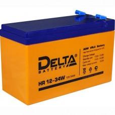 Аккумулятор 12В, 9 А/ч, Delta HR 12-34 W повышенной энергоотдачи .