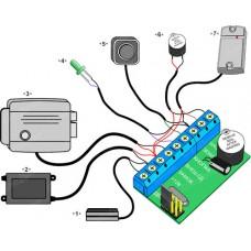 Z-5R/5000, Контроллер для эл. ключей Touch Memory, 5000 ключей (плата)