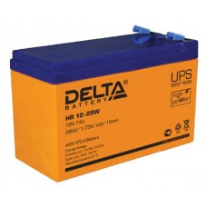 Аккумулятор 12В, 7 А/ч HR повышенной энергоотдачи (DELTA)