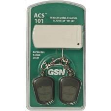 ACS-101, Комплект: 1-канальный приемник + 2 брелока