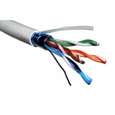 Кабель FTP 2PR  5e-cat-2*2*0.53, для внутренней прокладки 2-хпарный экранированный кабель
