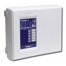 Гранит-5 (НОВЫЙ)Прибор приемно-контрольный, 5 шлейфов, 2 ПЦН, вых.12В, аккум.7А/ч.