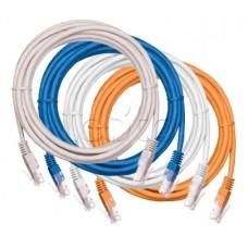 Шнур коммутационный U/UTP 4 пары Cat.5e 100 МГц 2*RJ45/8P8C PVC T568B заливной многожильный нг(В) се