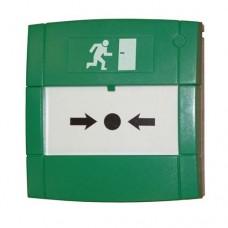MCP4A-G000SF (WG2200/SF), Ручной пожарный извещатель со сдвоенной группой контактов (зеленый, пласти