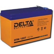 Аккумулятор 12В, 7 А/ч DTM повышенной энергоотдачи (DELTA)