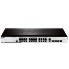 DES-3200-28/ME  Управляемый коммутатор 2 уровня с 24 портами 10/100 Мбит/с + 4 комбо-портами 1000BAS