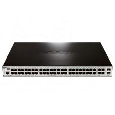 DES-3200-52P Управляемый коммутатор 2 уровня с 48 портами PoE 10/100BASE-TХ + 2 10/100/1000BASE-T +