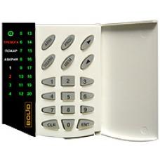 С-2000-КС, Пульт и клавиатура со светодиодными индикаторами на 20 охранных или пожарных зон.